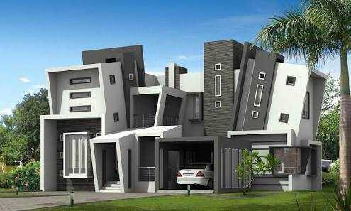 Desain rumah asimetris (Sumber: idolza.com)