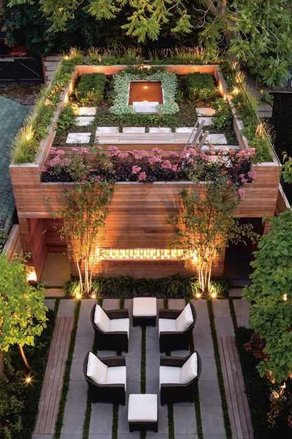 Rumah dengan taman di rooftop (Sumber: www.houseandgarden.co.uk)