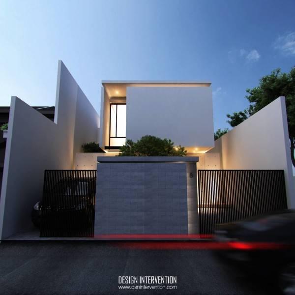 Arsitektur rumah mewah dan mungil J House at Gading Serpong karya DESIGN INTERVENTION [Sumber: arsitag.com]