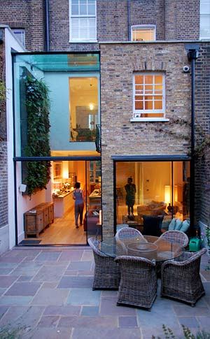Arsitektur rumah mungil terraced house di Primrose Hill, North London karya Archplan Architect [Sumber: archplan.co.uk]