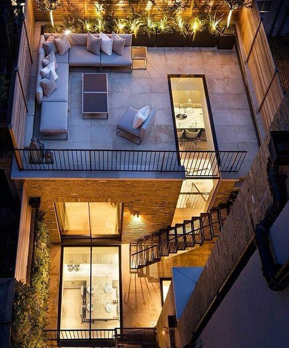 Arsitektur rumah mewah tapi mungil Chester Square di London's Belgravia [Sumber: pinterest.com]
