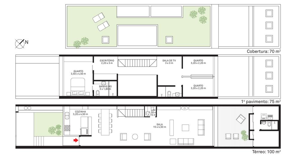 Arsitektur rumah mewah namun mungil bergaya modern karya Marina Mange Grinover dan Sergio Kipnis [Sumber: construyehogar.com]