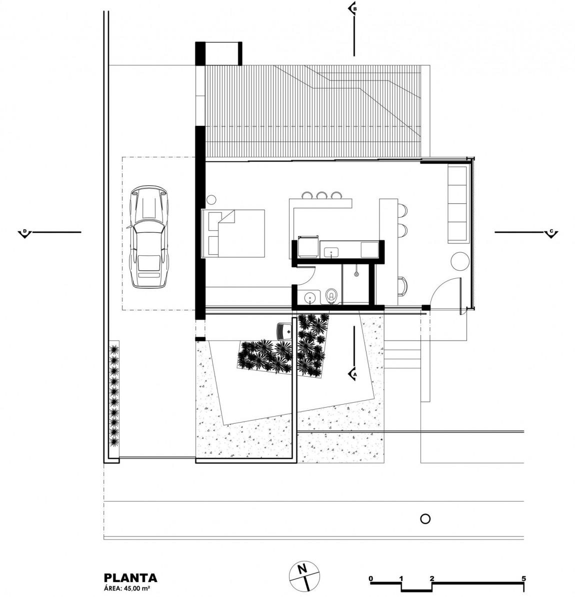 Arsitektur rumah mewah namun mungil bergaya modern karya Alex Nogueira [Sumber: construyehogar.com]