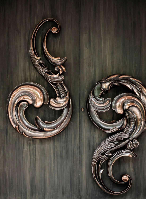 Detail gagang pintu DH_House karya Studio Air Putih tahun 2014 (Sumber: arsitag.com)
