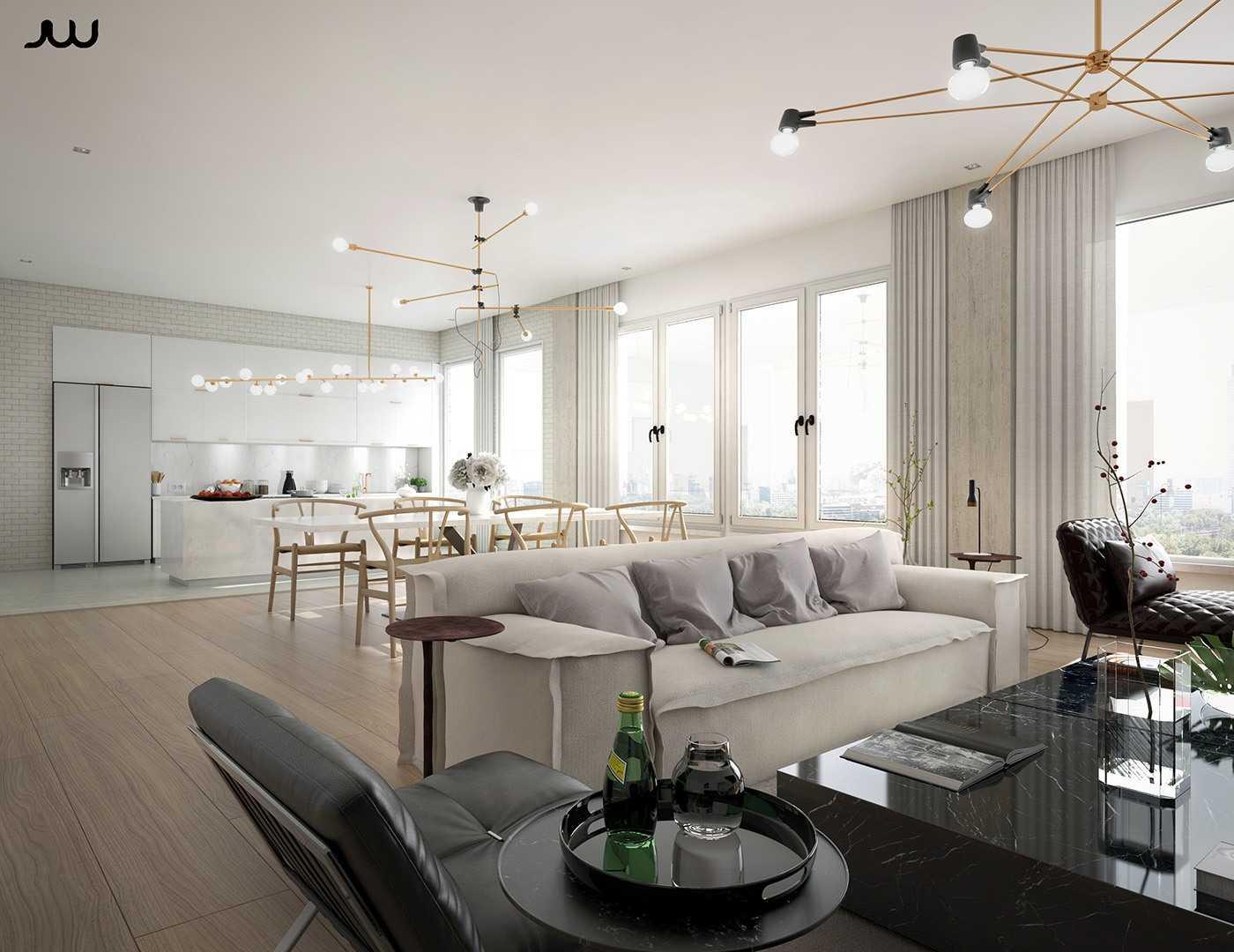 Desain ruang tamu apartemen mewah (Sumber: home-designing.com)
