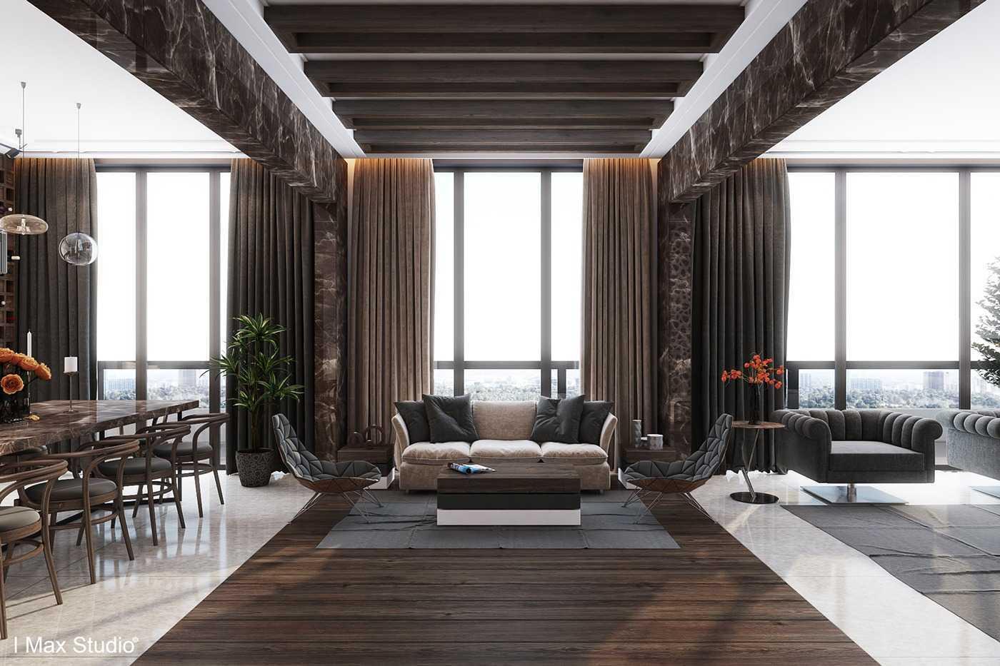 Tampilan apartment mewah dengan furnitur berukuran besar (Sumber: home-designing.com)