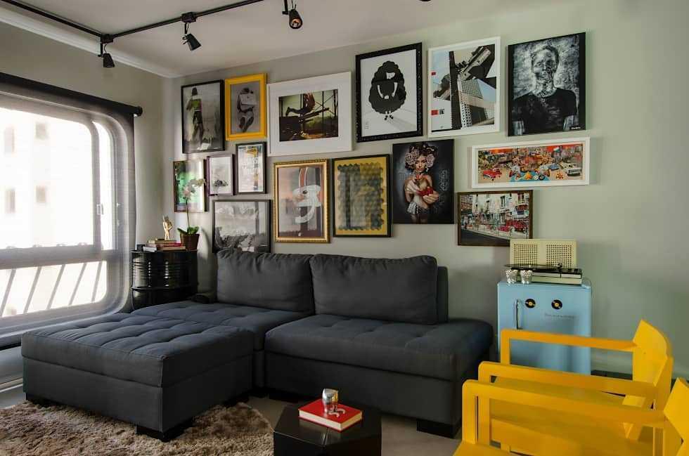 Dekorasi dinding dengan foto-foto artistik (Sumber: homify.co.id)