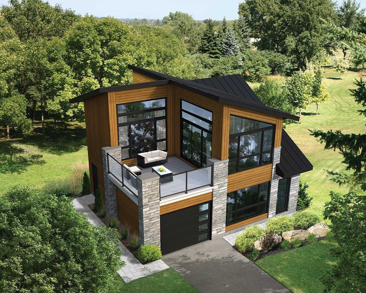 Rumah mewah dua lantai bergaya country (Sumber: architecturaldesigns.com)