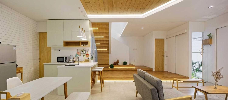 Inset House karya Delution Architect seluas 205 m2 (Sumber: arsitag.com)