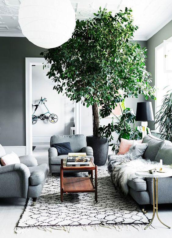 Elemen hijau pada model rumah Scandinavian [Sumber: interiorlikes.tumblr.com]