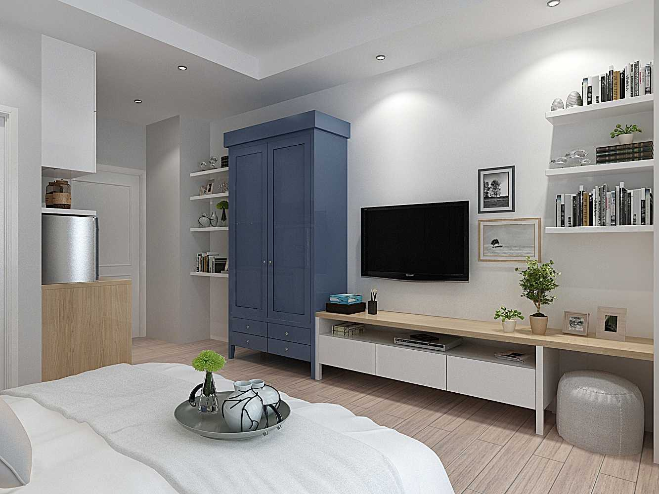 Tema Scandinavian pada Scandinavian Studio Apartment karya 7Design Architect [Sumber: arsitag.com]
