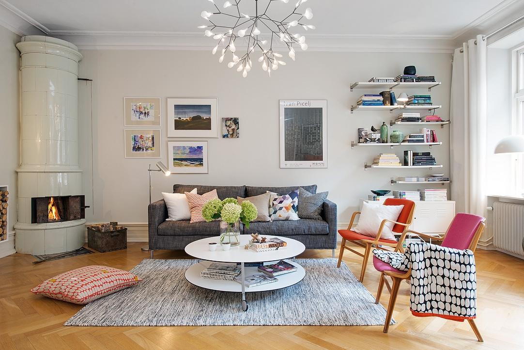 Aksen warna dengan konsep rumah Scandinavian [Sumber: decorationtrend.com]