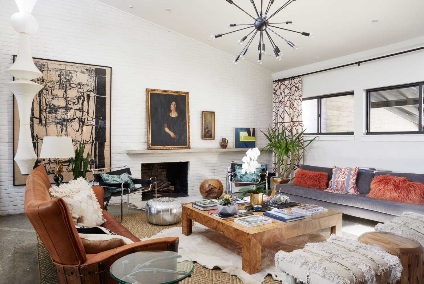 Ide desain ruang tamu tema Eclectic Scandinavian [Sumber: gmaillogina.com]