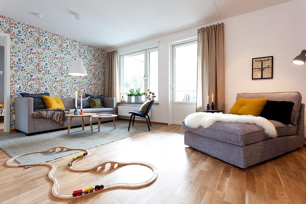 Tema Scandinavian pada ruang keluarga [Sumber: freshome.com]