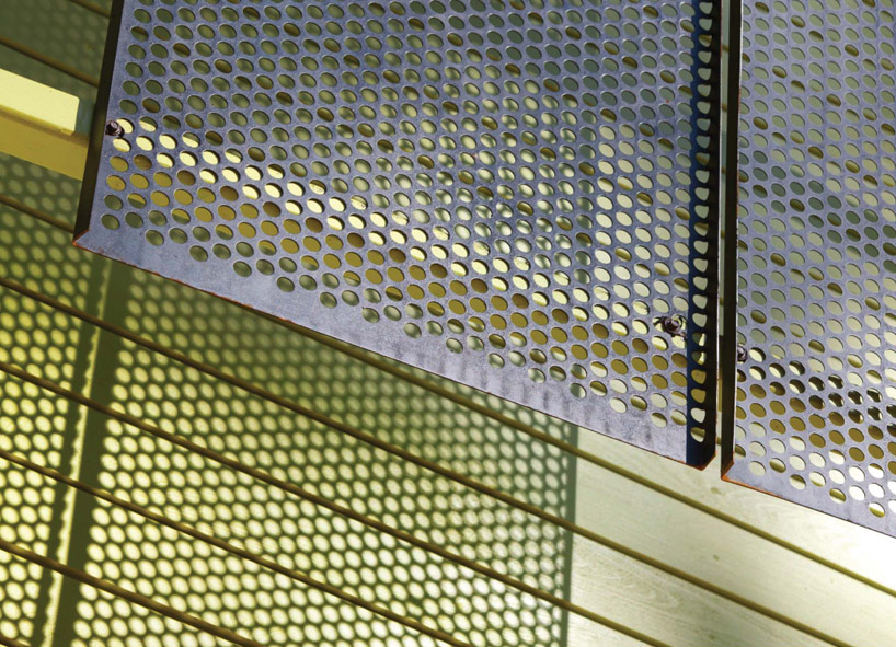 Perforated metal detail (Sumber: www.designboom.com)