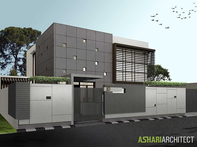 Rumah minimalis Jepang Palembang House karya Ashari Architects [Sumber: arsitag.com]