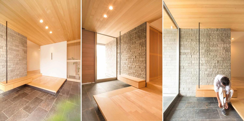 Genkan pada arsitektur rumah Jepang modern [Sumber: maricamckeel.com]