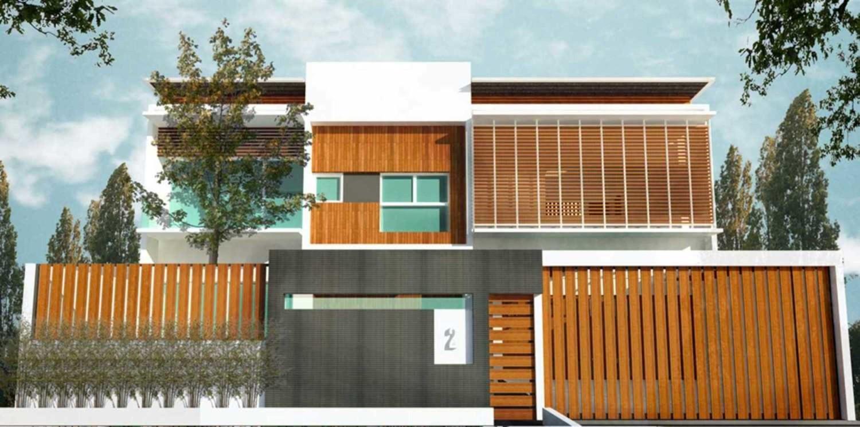 Elemen warna pada arsitektur rumah Jepang minimalis Kalibata House karya Ashari Architects [Sumber: arsitag.com]