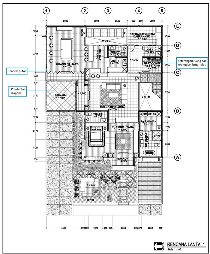 Bagaimana Cara Menggambar Denah Rumah Minimalis Arsitag