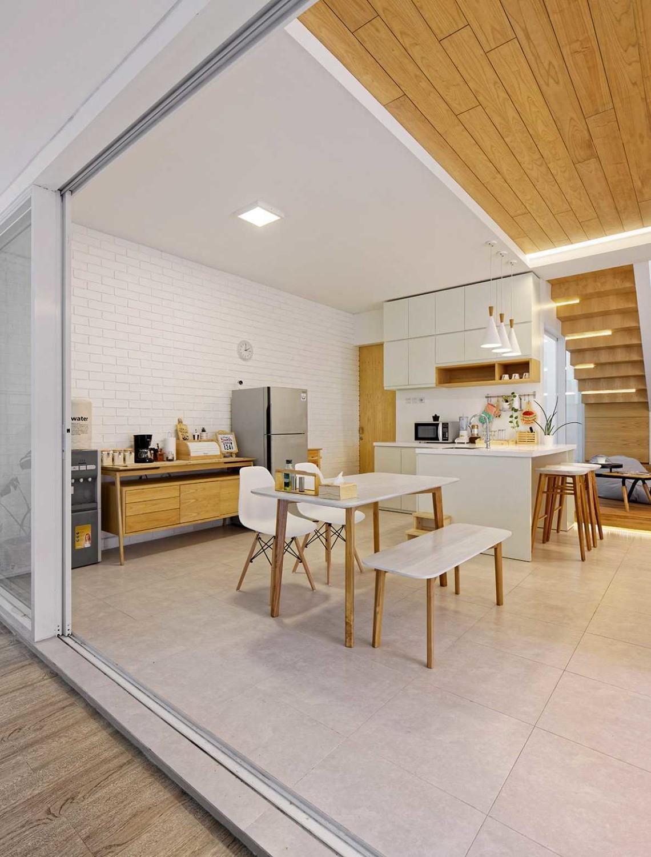 Ruang no. 4, 5, dan 6 di Inset House karya Delution Architect (Sumber: arsitag.com)