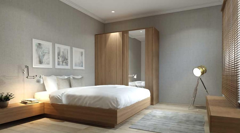 Master Bedroom at Rumah Jagakarsa karya VIRR Studio tahun 2017 (Sumber: arsitag.com)