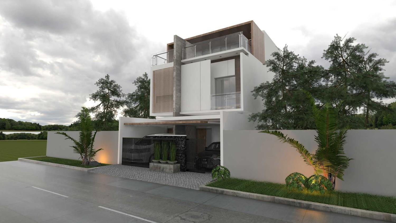 Rumah Kotak Geometris Tanjung Duren karya Gilang Kamajati tahun 2015 (Sumber: arsitag.com)