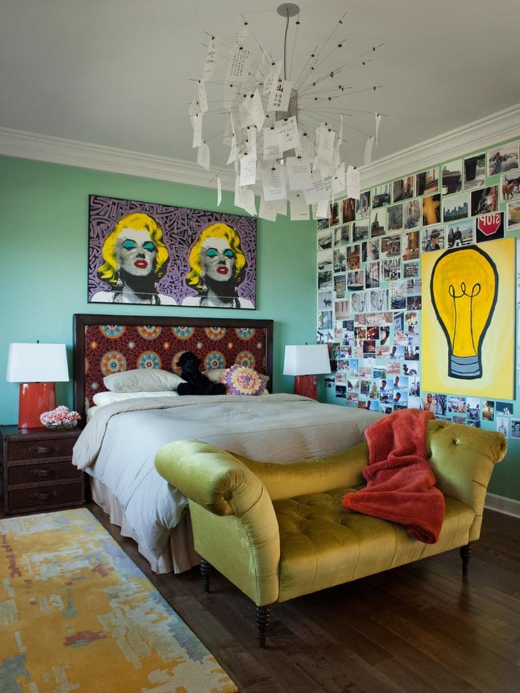 Desain kamar tidur sederhana dan murah gaya Retro [Sumber: cistudents.org]