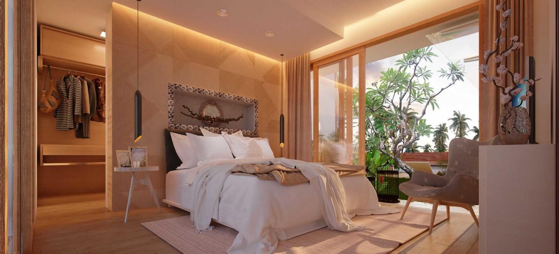 Desain kamar tidur sederhana dan murah Villa Kampi karya Studio lUmbung arChitEctS