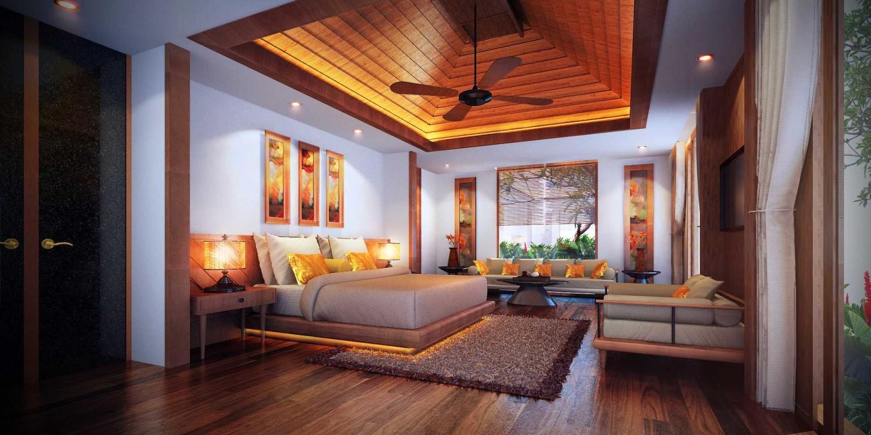 Interior kamar tidur Pejeng villa karya ICDS ARCHITECT [Sumber: arsitag.com]