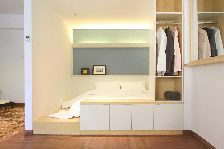 Desain kamar tidur unik One (+one) Bedroom Apartment karya arkitekt.id [Sumber: arsitag.com]