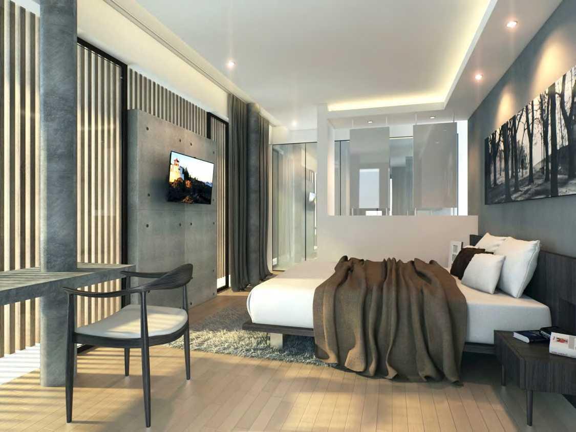Interior kamar tidur Nouval House karya Nimara Architects [Sumber: arsitag.com]
