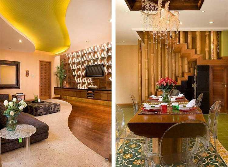 Desain rumah etnik sederhana bergaya eklektik Modern Ethnic Housekarya Iwan Sastrawiguna [Sumber: arsitag.com]