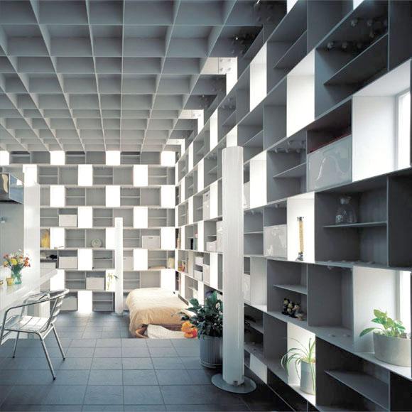 Desain rumah Jepang minimalis Cell Brick karya Atelier Tekuto [Sumber: japlusu.com]