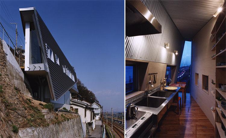 Desain rumah Jepang Skinny House karya Shuhei Endo Architects [Sumber: archdaily.com]