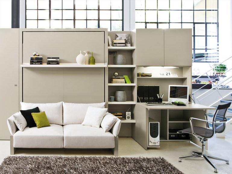 Bahkan ide yang lebih hebat, tempat tidur ini bisa dilipat di balik sofa yang kemudian dapat dipergunakan selama siang hari. Ide ini akan menghemat ruang dan memberikan lebih banyak fleksibilitas tanpa mengorbankan kenyamanan.