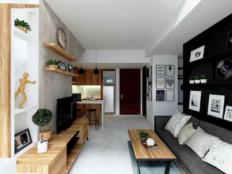 referensi design interior apartemen 2br design interior apartemen Apartemen Satu8 Karya Alima Studio (Sumber: arsitag.com)