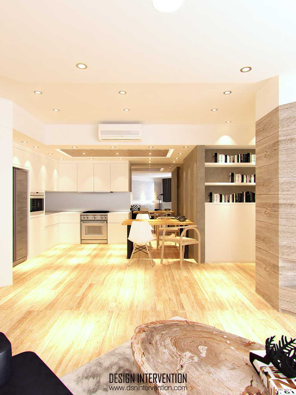 Dapur rumah mewah PK Apartment karya DESIGN INTERVENTION [Sumber: arsitag.com]