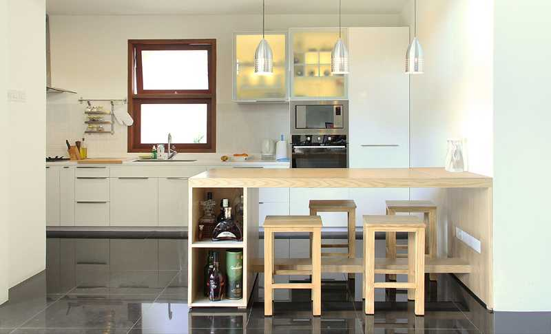 Dapur cantik mewah Scandinavian Paul Home byInspace Studio [Sumber: arsitag.com]