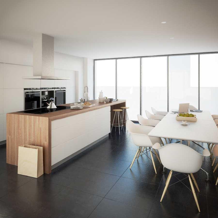 Desain dapur cantik mewah Scandinavian Minimal Kitchen karya JR Design [Sumber: arsitag.com]