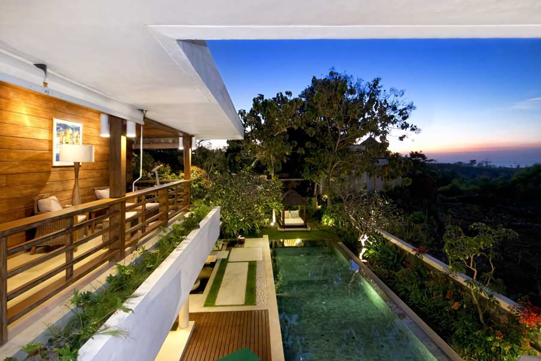 Villa Champa di Balangan, Bali karya IMAGO DESIGN STUDIO tahun 2010 (Sumber: arsitag.com)