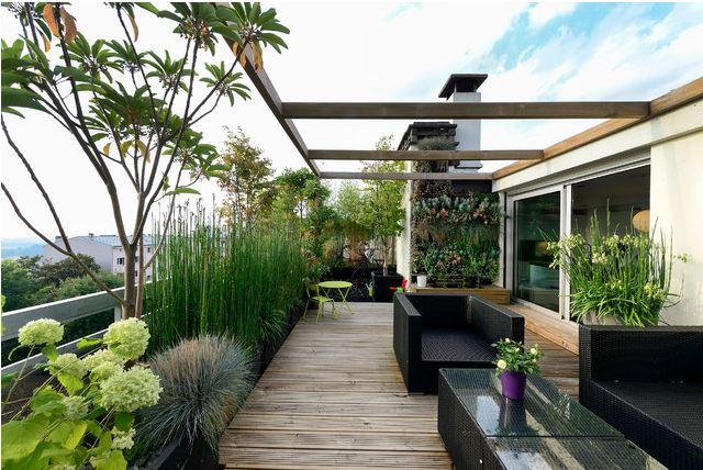 Ide desain rooftop garden minimalis [Sumber: digsdigs.com]