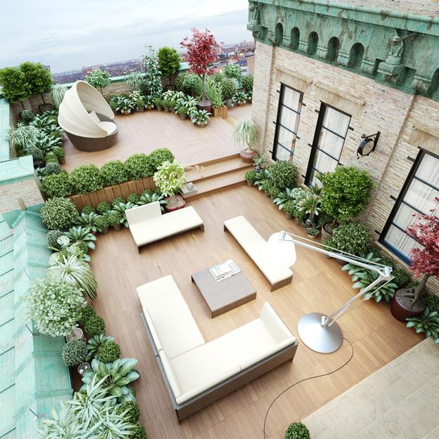 Desain taman rumah minimalis rooftop [Sumber: digsdigs.com]
