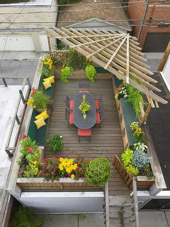 Desain rooftop garden [Sumber: gardenporn.tumblr.com]