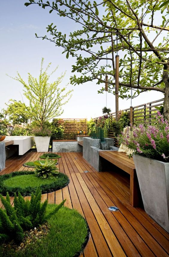 Desain rooftop garden minimalis [Sumber: guiaparadecorar.com]