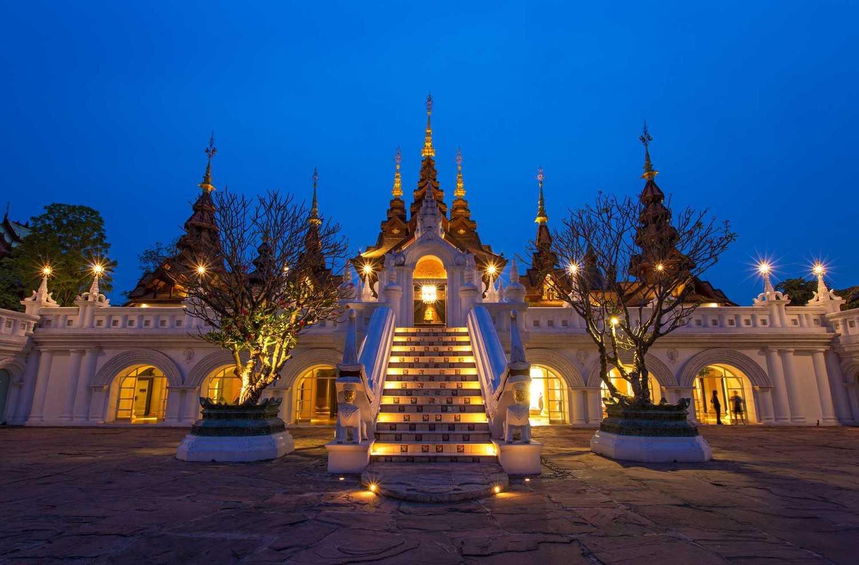 Chiang Mai Lanna dengan arsitektur teras terbuka (Sumber: www.daniel-allen.net)