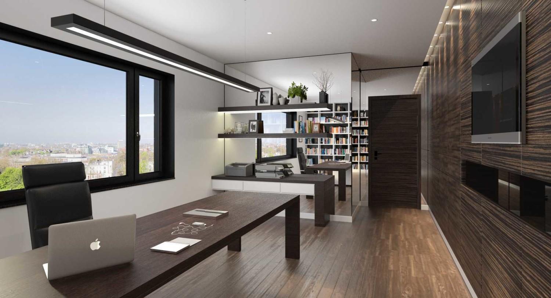Interior Home Office di Kemayoran karya JR Design tahun 2016 (Sumber: arsitag.com)