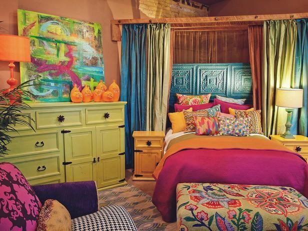 Kamar tidur warna-warni (Sumber: pinterest.com)