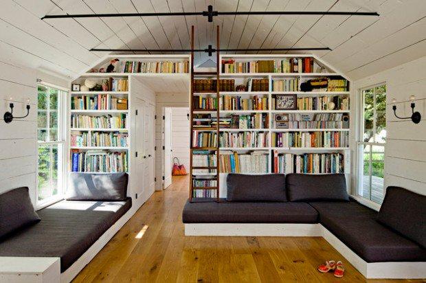 Ruang baca ala Skandinavian (Sumber: jhinteriordesign.com)