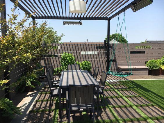 Ayunan dalam desain taman rooftop [Sumber: littlemiraclesdesigns.com]