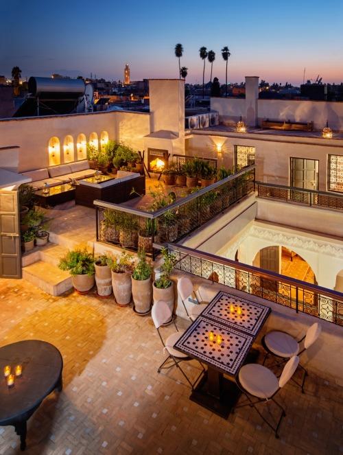 Desain taman atap bergaya Maroko [Sumber: decorationdelamaison.tumblr.com]